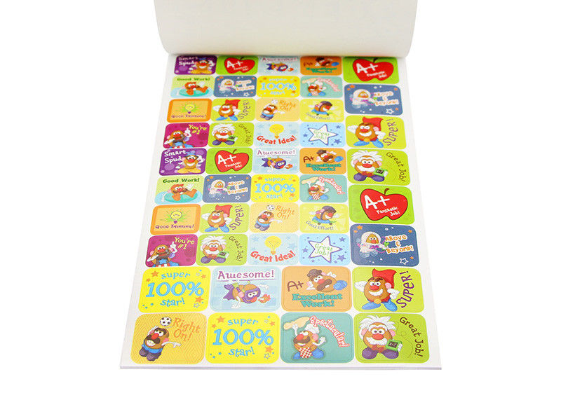 Colorful Self Adhesive Paper Stickers Removable Bespoke Sticker Printing
