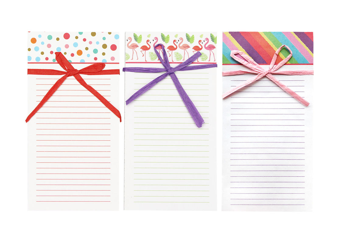 Raffia Bow Custom Printed Notebooks , Personalized Notebooks For Girls Kids Men