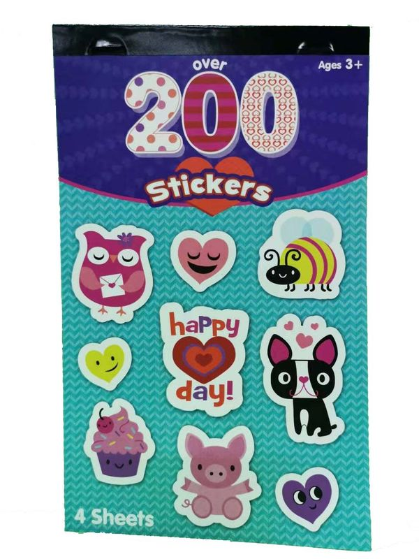 Party Deco Custom Sticker Printing , Children's Label Stickers High Glossy Colorful Shapes